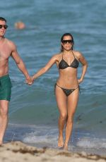 Sylvie Meis Shows off her bikini body and a huge diamond ring on the beach in Miami