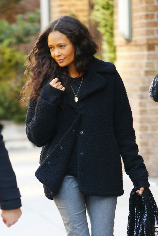 Thandie Newton Out in Downtown New York