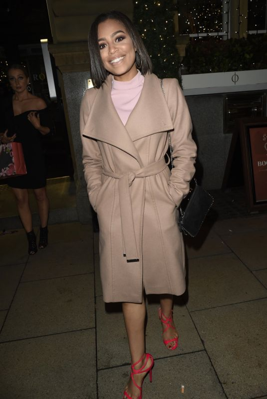 Tisha Merry At Rosso Restaurant in Manchester