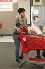 Tori Spelling Out for last Christmas shopping at Target in Los Angeles