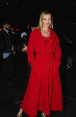 Uma Thurman Seen at the Versace fashion show in New York
