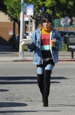 Vanessa Hudgens At Blue Bottle Coffee in Los Angeles