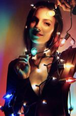 Victoria Justice On holiday lights photoshoot 2018