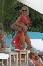 Victoria Silvstedt and boyfriend Maurice Dabbah in St. Bart