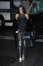 Winnie Harlow Arriving to the Versace fashion show in New York