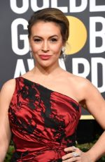 Alyssa Milano At 76th Annual Golden Globe Awards in Beverly Hills