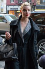 Anya Taylor-Joy Arrives back to the Bowery Hotel in New York City