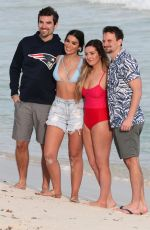 Ashley Iaconetti, Carly Waddell Pose for a photoshoot on Cancun beach