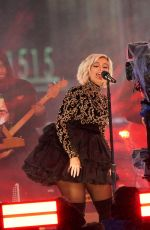 Bebe Rexha Performs during the Times Square NYE 2019 Celebration in NYC