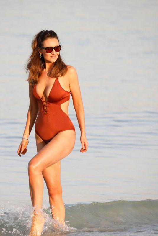 Catherine Tyldesley In Swimsuit on holiday in Dubai