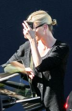 Charlize Theron Enjoys a late meal at The Brig