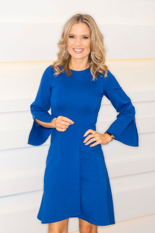 Charlotte Hawkins At good morning britain tv show in London