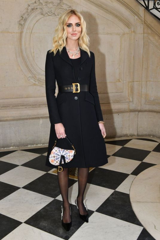 Chiara Ferragni At Christian Dior Show at Paris Fashion Week