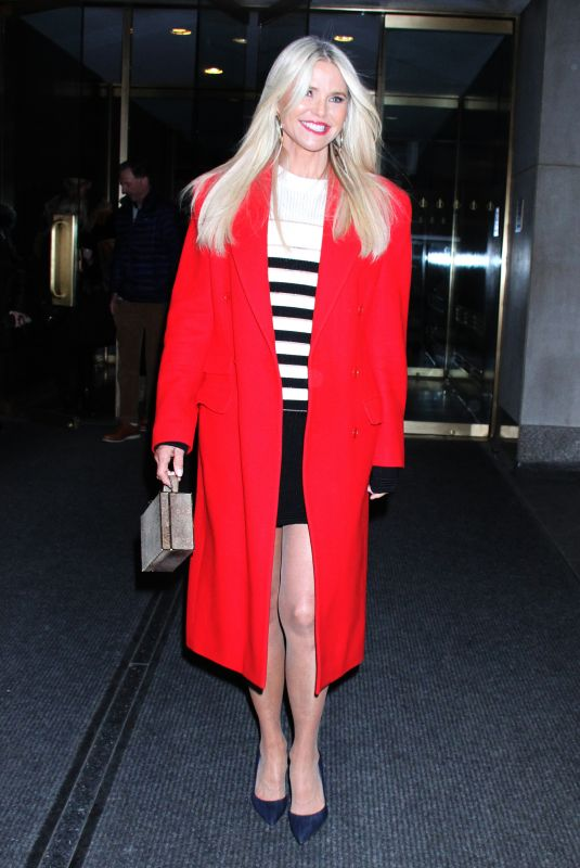 Christie Brinkley Arriving at NBC