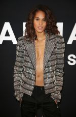 Cindy Bruna At Balmain Homme show in Paris