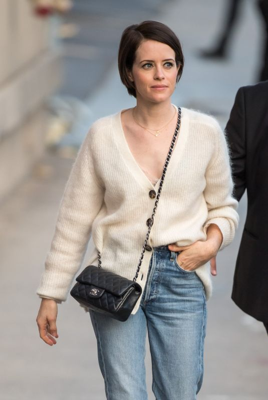 Claire Foy Outside