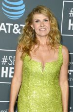 Connie Britton At 24th Annual Critics Choice Awards at Barker Hangar in Santa Monica