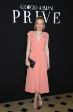 Dakota Fanning At Armani fashion show Haute-Couture S/S 2019 photocall in Paris