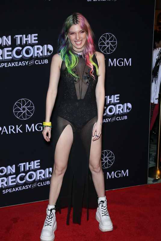 Dani Thorne ON The Record Red Carpet Grand Opening at Park MGM in Las Vegas