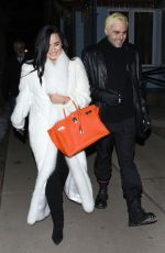 Demi Lovato and Henri Levy out for a romantic dinner in Aspen