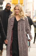 Dianna Agron Outside AOL Build in NYC