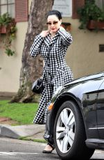 Dita Von Teese After a yoga class in LA