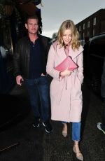 Donna Air and her boyfriend Ben Carrington spotted leaving Scalini restaurant in London