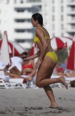 Dua Lipa Takes a dip in the ocean with her family in Miami
