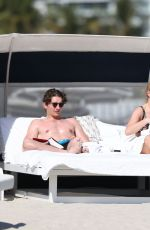 Ellie Goulding and her fiance caspar jopling soak up the sun on Miami Beach