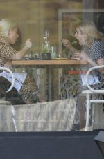 Emma Roberts Grabs lunch with a friend at Cafe Gratitude in Los Angeles