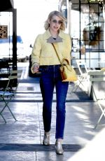 Emma Roberts Leaves Nine Zero One in West Hollywood