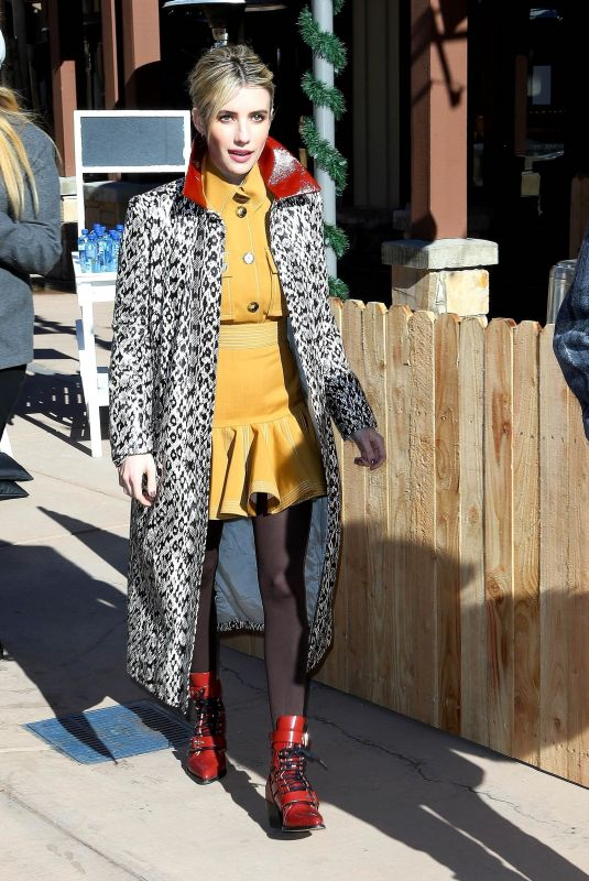 Emma Roberts Meets the fans while out on Main Street at the Sundance Film Festival in Park City
