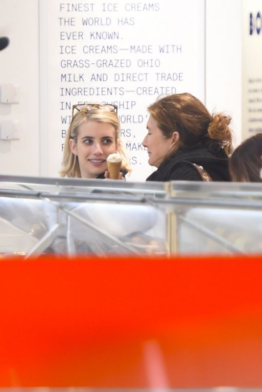 Emma Roberts Spotted getting ice cream in Los Angeles