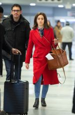 Emmy Rossum Arriving at JFK in NYC