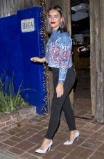 Georgia May Foote Leaving dinner with friends at