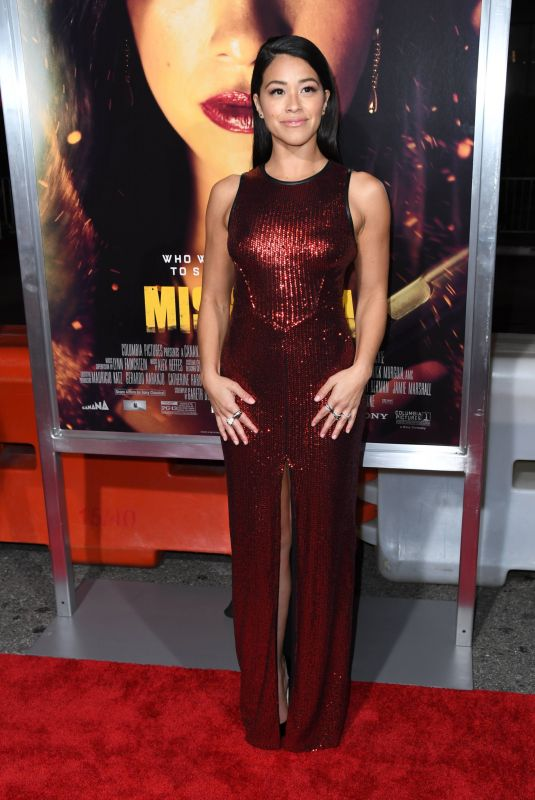 Gina Rodriguez At Premiere of Columbia Pictures