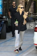 Hailey Baldwin Stops by Alfred Tea Room with her new puppy Oscar in Weho