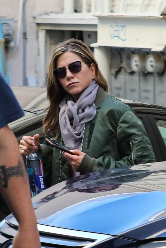 Jennifer Aniston Leaving a nail salon in Beverly Hills