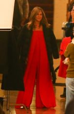 Jennifer Aniston On the set of her new TV show Top Of The Morning in Los Angeles