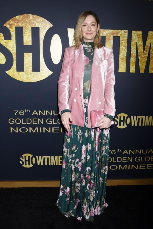 Judy Greer At Showtime 2019 Golden Globes nominees celebration, held at the Sunset Tower Hotel in West Hollywood