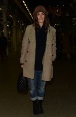 Kiera Knightley Arriving at St Pancras station, London