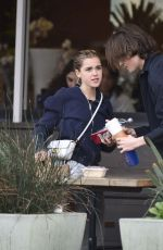 Kiernan Shipka At Erewhon Market in Los Angeles