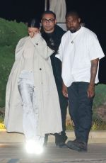 Kim Kardashian and her husband Kanye West were seen leaving Nobu after a sushi dinner and meeting with Pete Davidson in Malibu