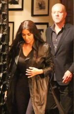 Kim Kardashian Dashes to her Range Rover after dinner at the celeb favorite Mexican eatery in Studio City