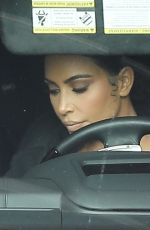 Kim Kardashian Leaves the studio after filming for