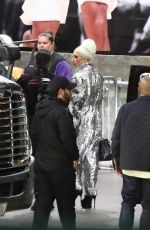 Lady Gaga and her fiance Christian Carino arrive at the Elton John concert in Los Angeles