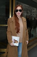 Lindsay Lohan After buying a book at Barnes & Noble in Midtown