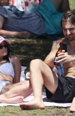 Lisa Hyde At the beach with her partner in Sydney