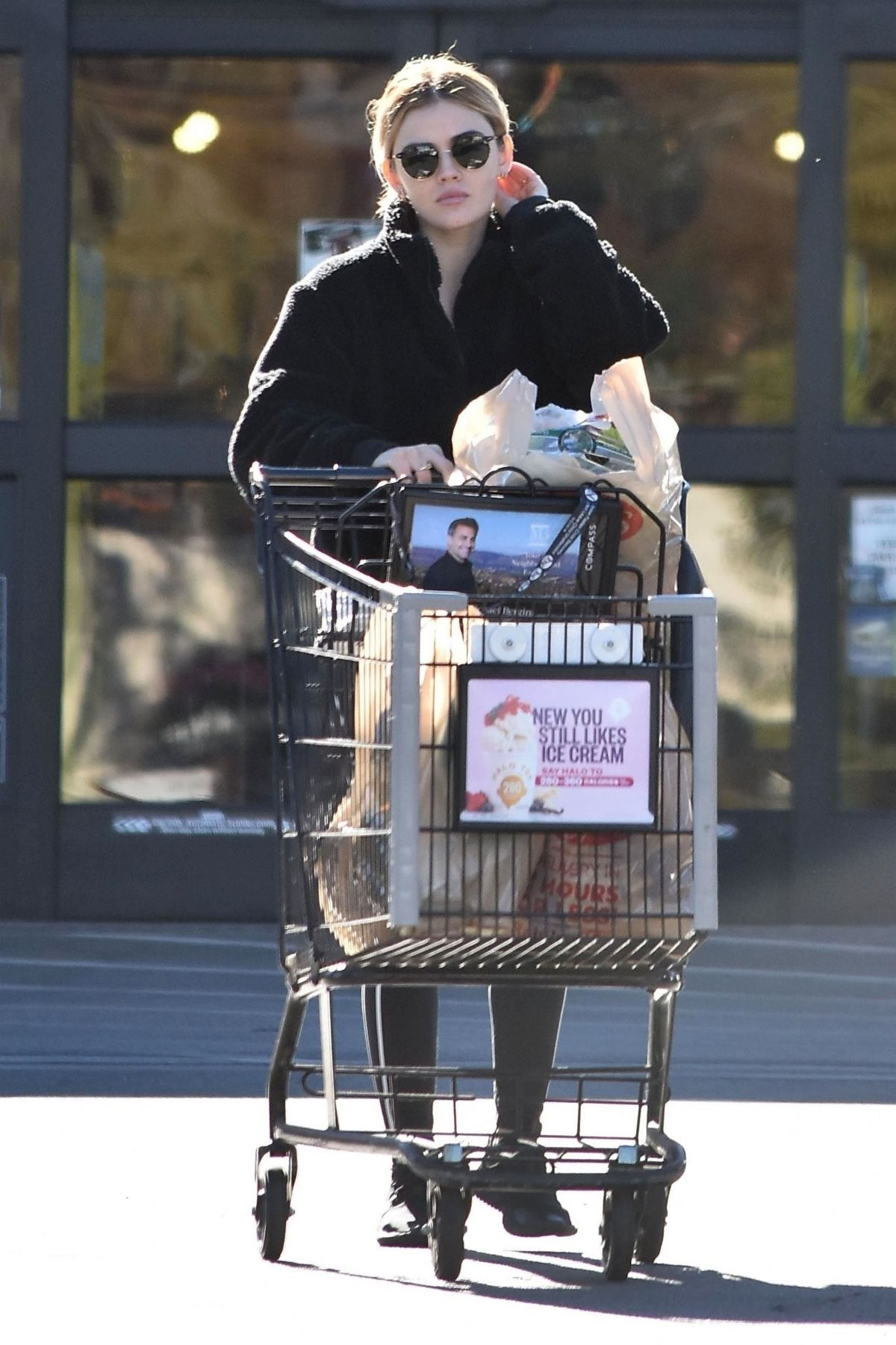Lucy Hale Outside ralph's in Studio City