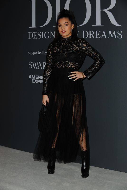 Mabel McVey At Christian Dior Designer of Dreams fashion exhibition in London